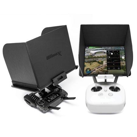 Ultimaxx Phone Monitor Sun Shade Cover Tablets Pad Hood for DJI Phantom 4/3, Mavic Pro, Inspire, OSMO, M600 Monitor Remote Controller (Small Tablet 8