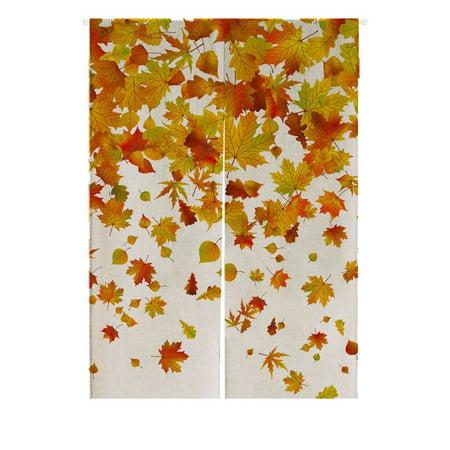 GCKG Falling Maple Leaves Doorway Curtain Japanese Noren Curtains Door Curtain Entrance Curtain Size 85x120 - Maple Leaf Diamonds