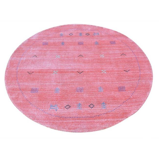 Rugs sh25660 4 ft. 1 in. x 4 ft. 1 in. Round Pink Wool ; ...