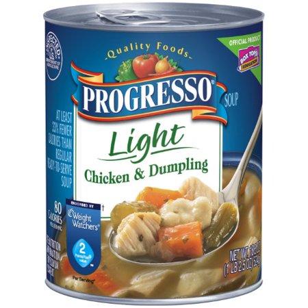 - Progresso Chicken & Dumpling Soup, Light (Pack of 36)