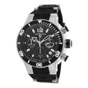 14084Sm-01-Bb Sharkarma Chronograph Black Silicone, Dial & Bezel Ss Watch