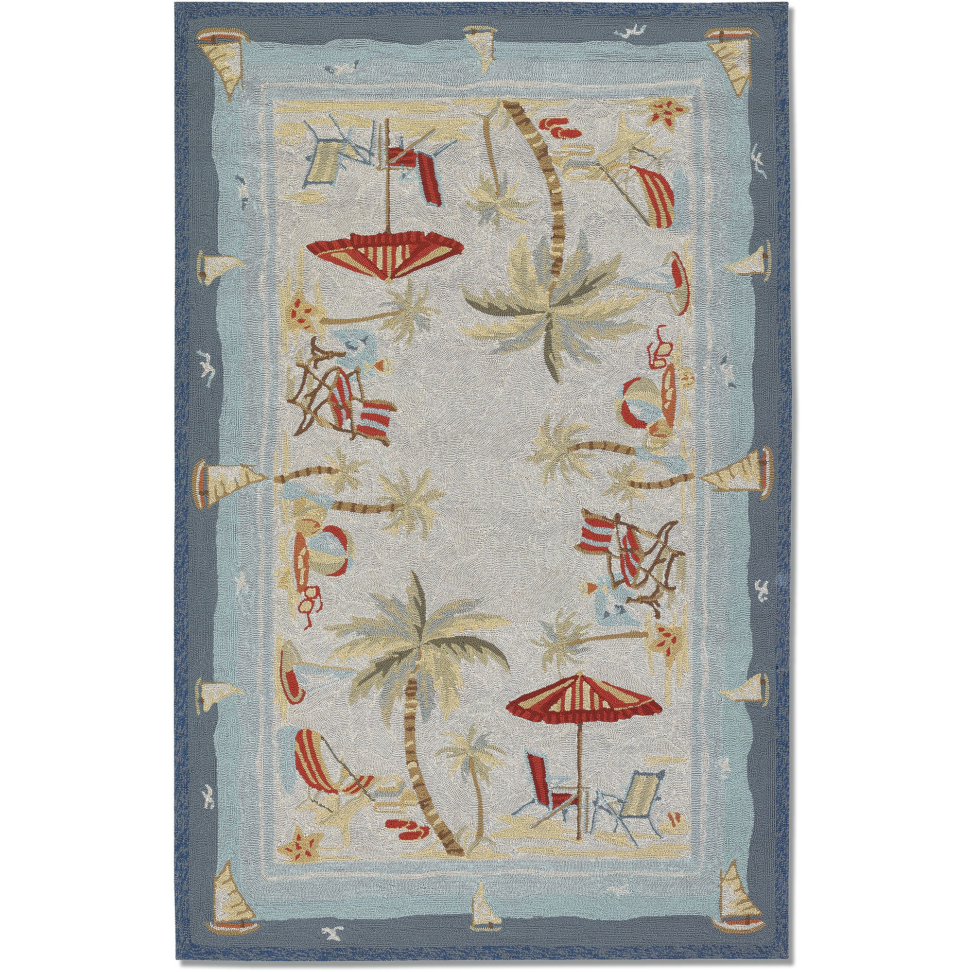 Couristan Outdoor Escape Pacific Heights Rug, Ocean
