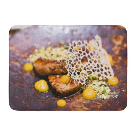 GODPOK Food Red Dining Foie Gras White Fine French Rug Doormat Bath Mat 23.6x15.7 inch