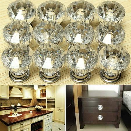 Meigar Pack Of 12 Drawer Knob Pull Handle Crystal Dresser