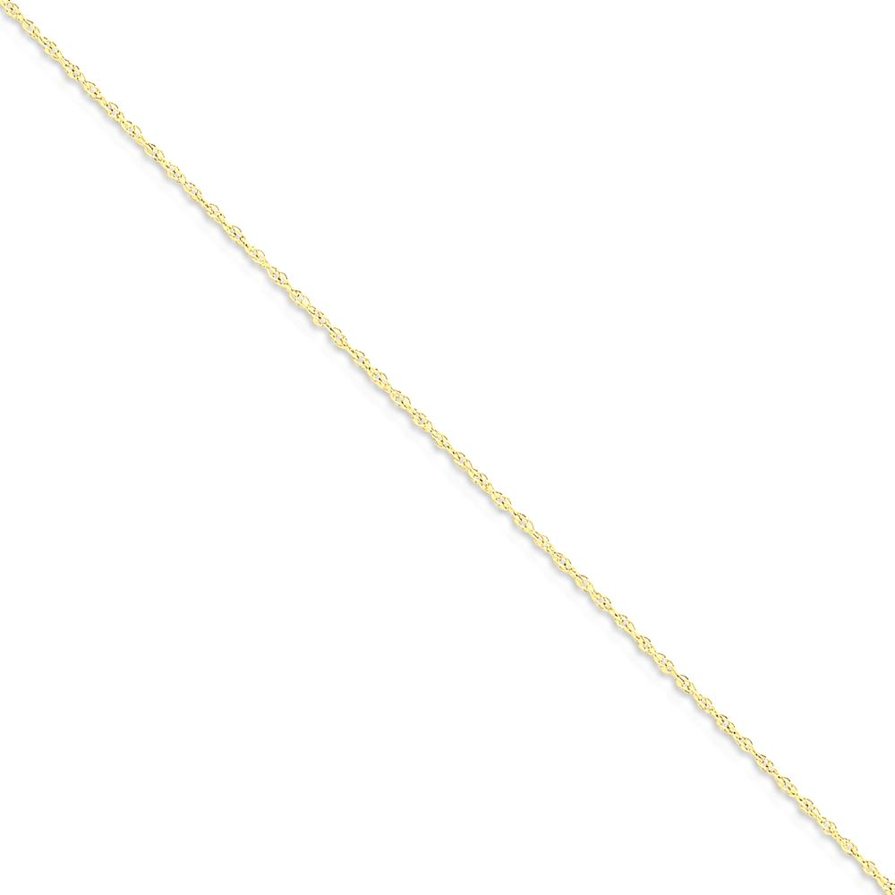 ICE CARATS 14kt Yellow Gold .8mm Baby Link Rope Bracelet Chain 7 Inch Fine Jewelry Ideal Gifts For Women Gift Set From Heart