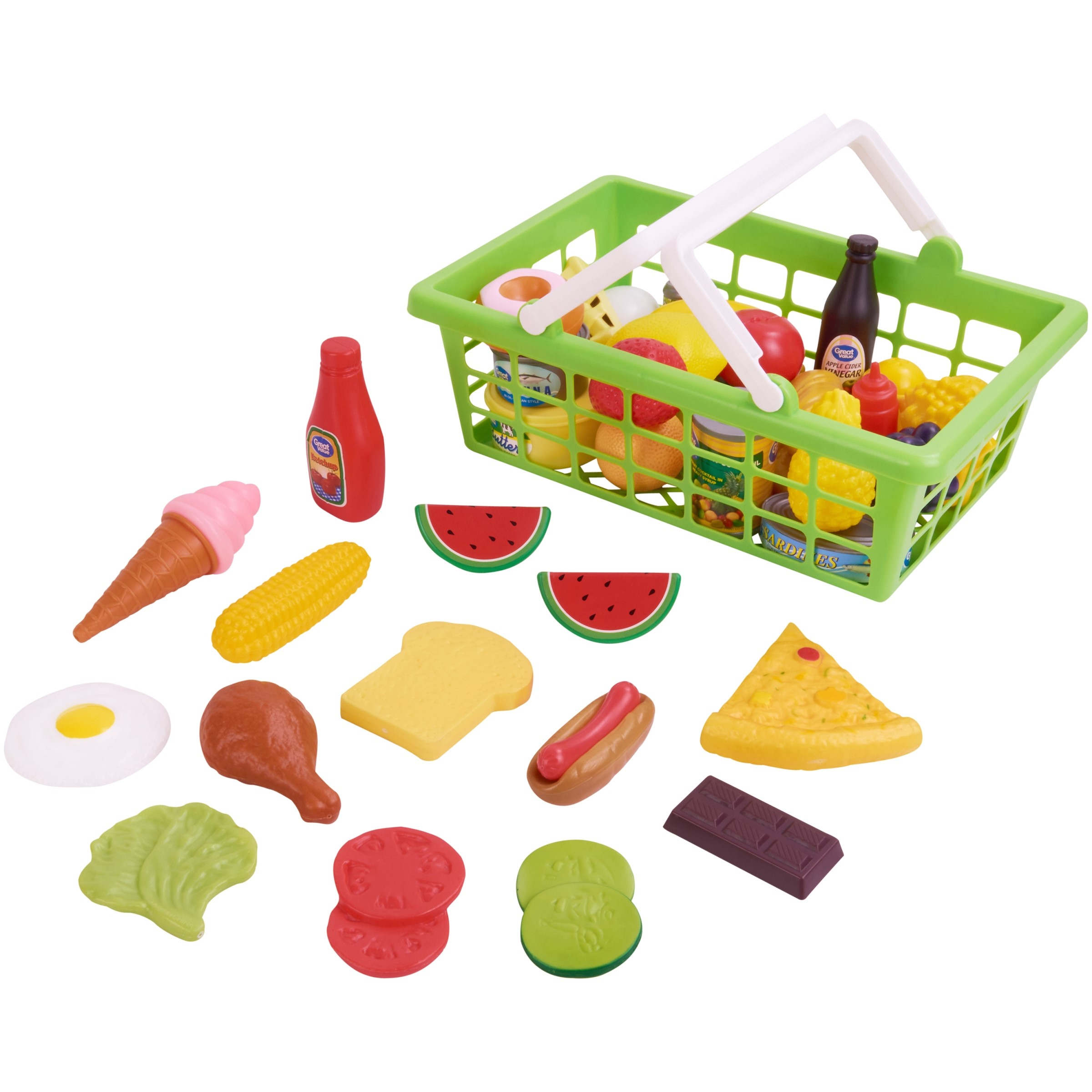Kid Connection 100 Piece Play Food Set Designed For Kids Age 3 And Up