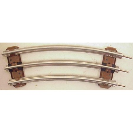 6-65014 1/2 Curved single piece of track O27