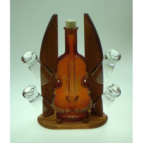 Womar Glass Carafe 5 Piece Contrabass and Shot Glass Set