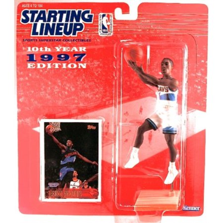 Starting Lineup TERRELL BRANDON CLEVELAND CAVALIERS 1997 NBA Kenner Exclusive TOPPS Collector Trading Card 1988 Starting Lineup Cards