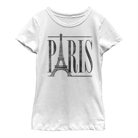 Lost Gods Paris Eiffel Tower Stripe Girls Graphic T Shirt
