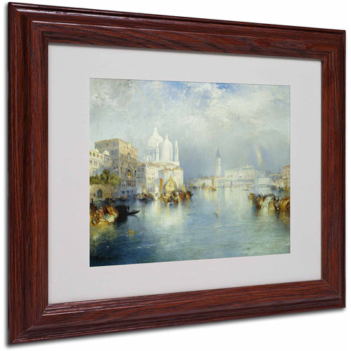 "Trademark Fine Art ""Grand Canal Venice 1903"" Canvas Art by Thomas Moran, Wood Frame"