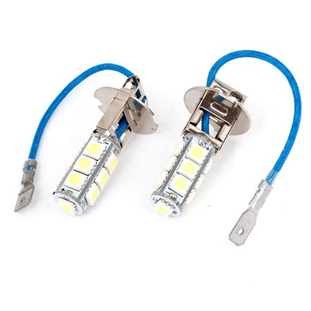 Unique Bargains 2 Pcs H3 White 5050 Smd 13 Led Car Daytime Running
