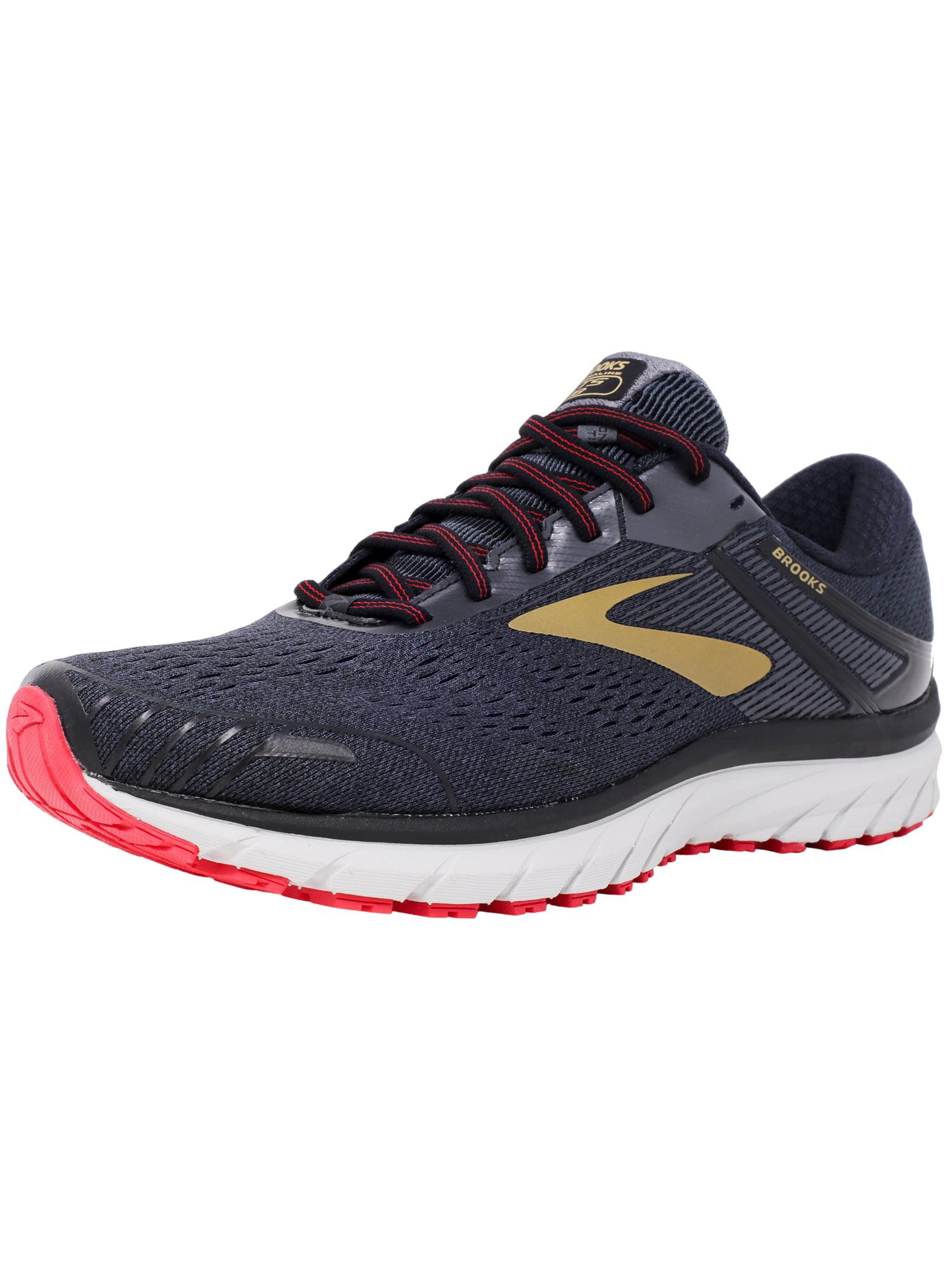 3ebb1d49effc9 Brooks Men s Adrenaline Gts 18 Black   Gold Red Ankle-High Mesh Running Shoe  - 13W