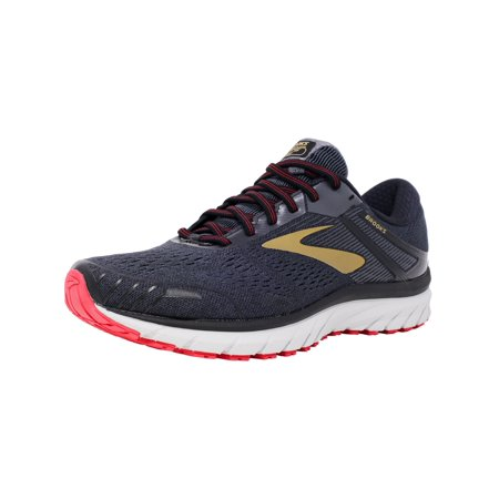 Gts 7 Stability Running Shoe (Brooks Men's Adrenaline Gts 18 Black / Gold Red Ankle-High Mesh Running Shoe -)