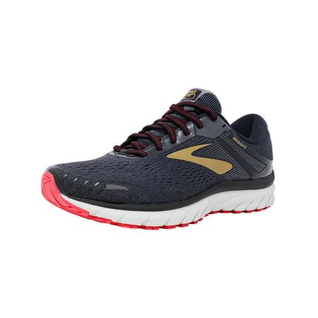 cdd22c9da6dcf Brooks Men s Adrenaline Gts 18 Black   Gold Red Ankle-High Mesh Running  Shoe ...