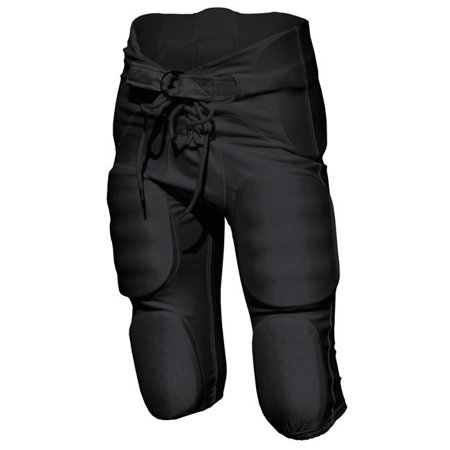 Intensity N3710001LRG Poly Spandex Integrated Football Pant for Men, Black - Large Eastbay Football Game Pant