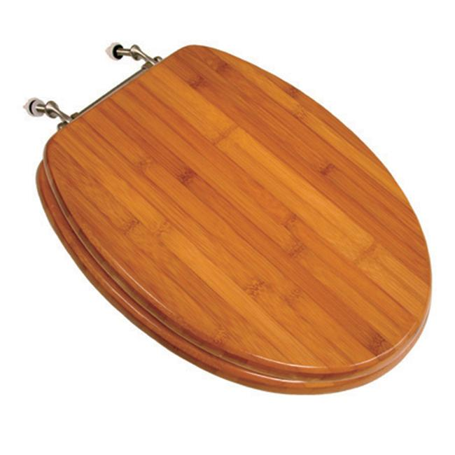 Comfort Seats Premium Piano Wood Elongated Toilet Seat