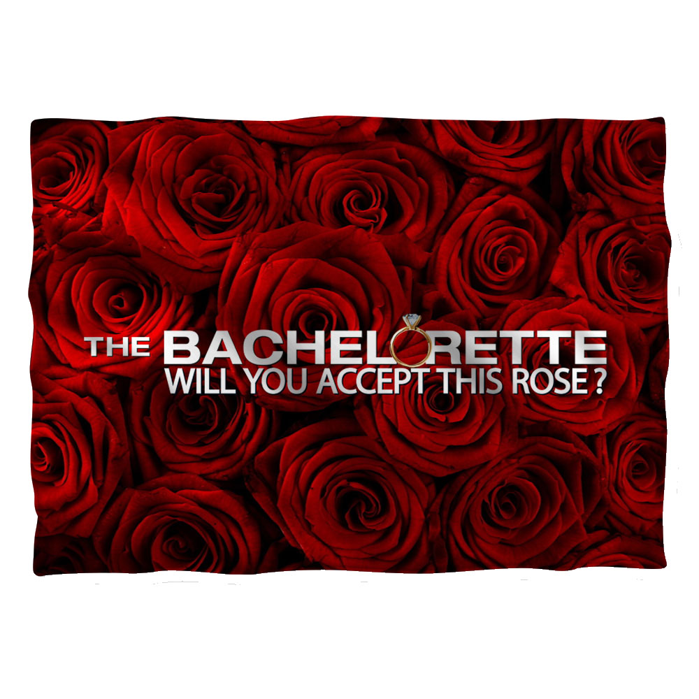 Bachelorette Roses Pillow Case White One Size