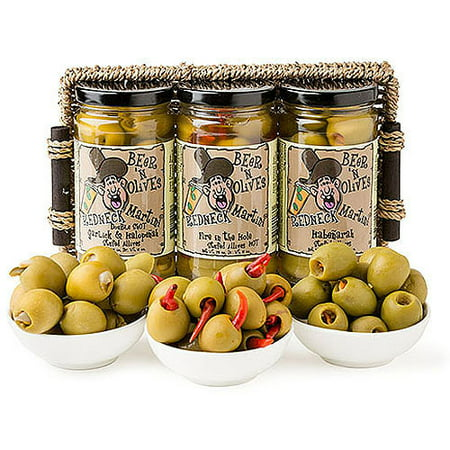 Deli Direct Redneck Martini Spicy Olives Gift Basket  12 Oz  3 Count