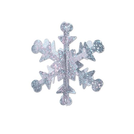 Club Pack of 60 Mini Prismatic 3-D Winter Snowflake Centerpiece Party Decorations 3.5