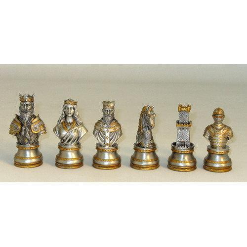 Ital Fama Pewter Camelot Men Chessmen