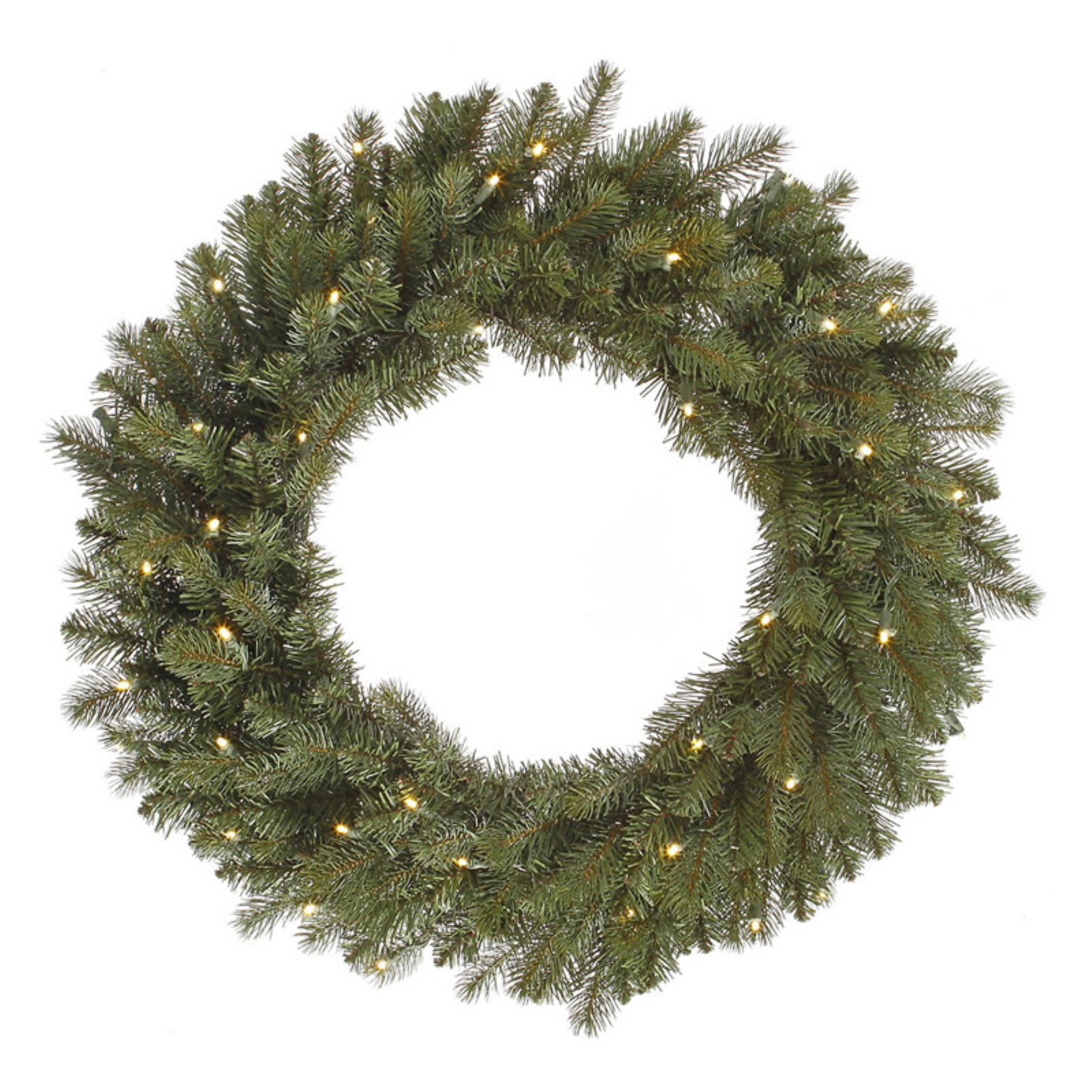 """Vickerman 30"""" Colorado Spruce Wreath with 40 Warm White LED Lights"""