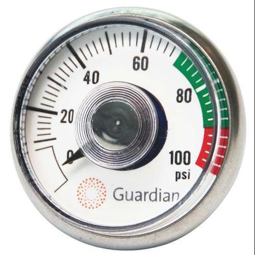 GUARDIAN EQUIPMENT 400-004-2 Air Pressure Gauge