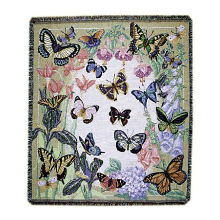 Butterfly Throw (Simply Home Butterflies are Free Tapestry Throw)