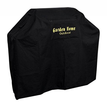 Garden Home Outdoor Grill Cover 600D, Water Resistant, Air Vents, Padded Handles, Elastic Hem Cord - Heavy Duty Burner Gas BBQ Grill Cover
