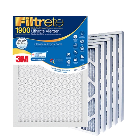 14x14x1 Filtrete Ultimate Allergen Air Filter (13.75x13.75x.875 - Actual Size) 6 Pack