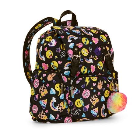 No Boundaries - Black Emoji Cargo Backpack - Walmart.com dc901531a2fe7
