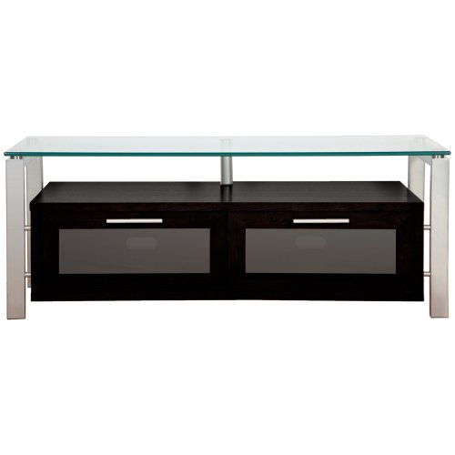 Plateau Decor 50 Inch TV Stand in Black and Silver