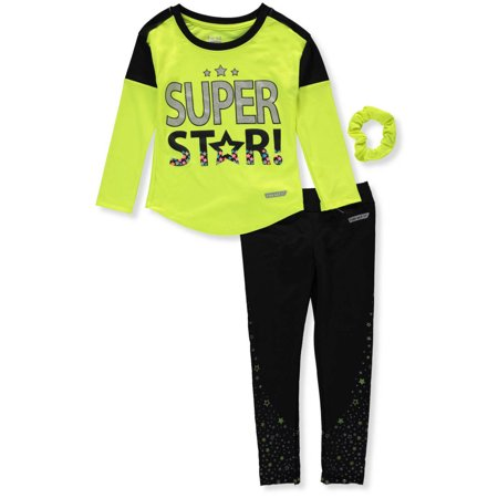Hind Girls' 2-Piece Performance Leggings Set Outfit with Ponytail - 40s Outfits