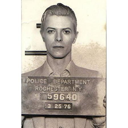 David Bowie Poster Mug Shot New 24x36