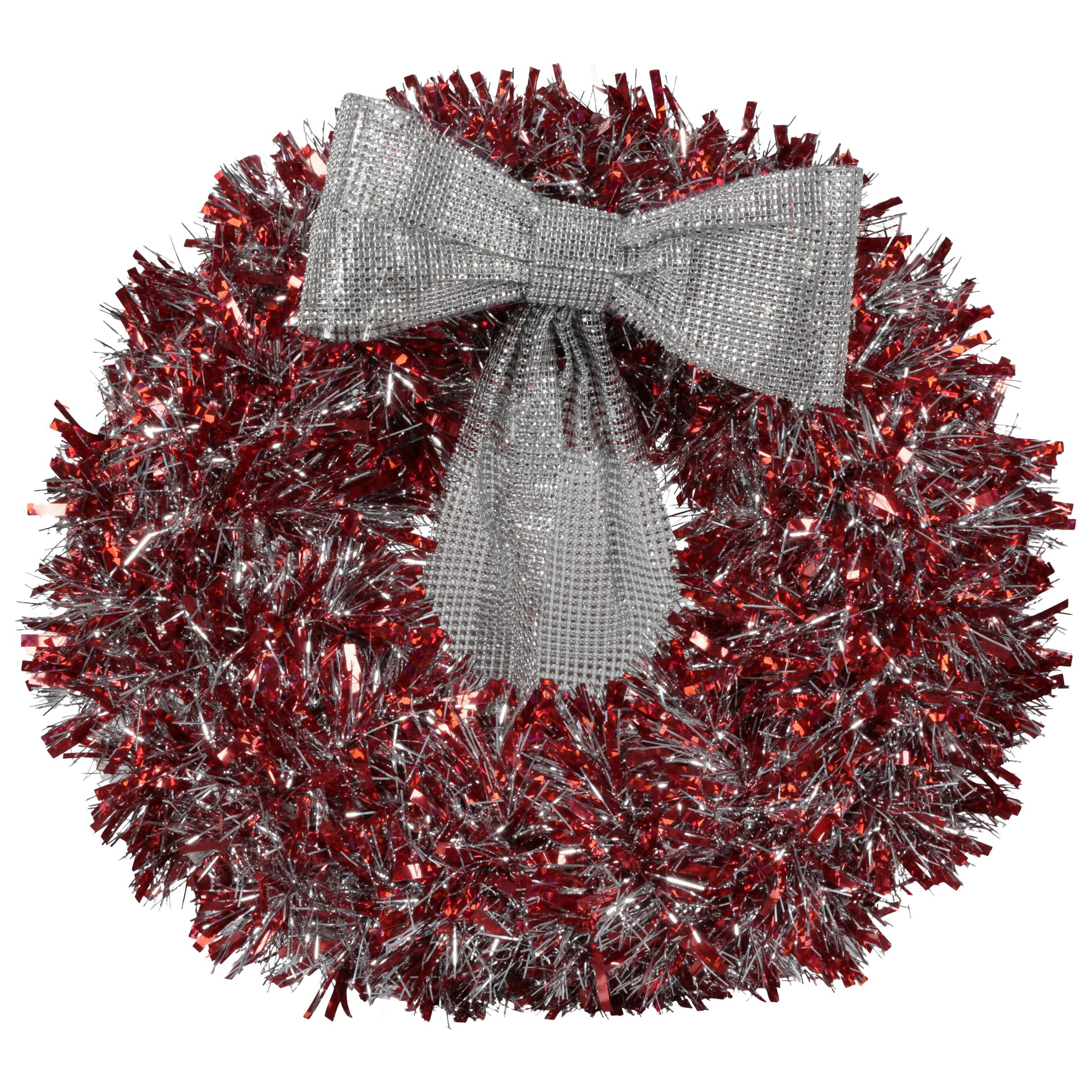 Holiday Time Tinsel Wreath