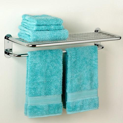 Zenith Hotel Towel Shelf, Chrome