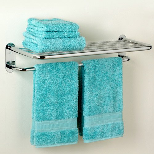 Average Height Of Towel Bar In Bathroom: Zenith Hotel Towel Shelf, Chrome