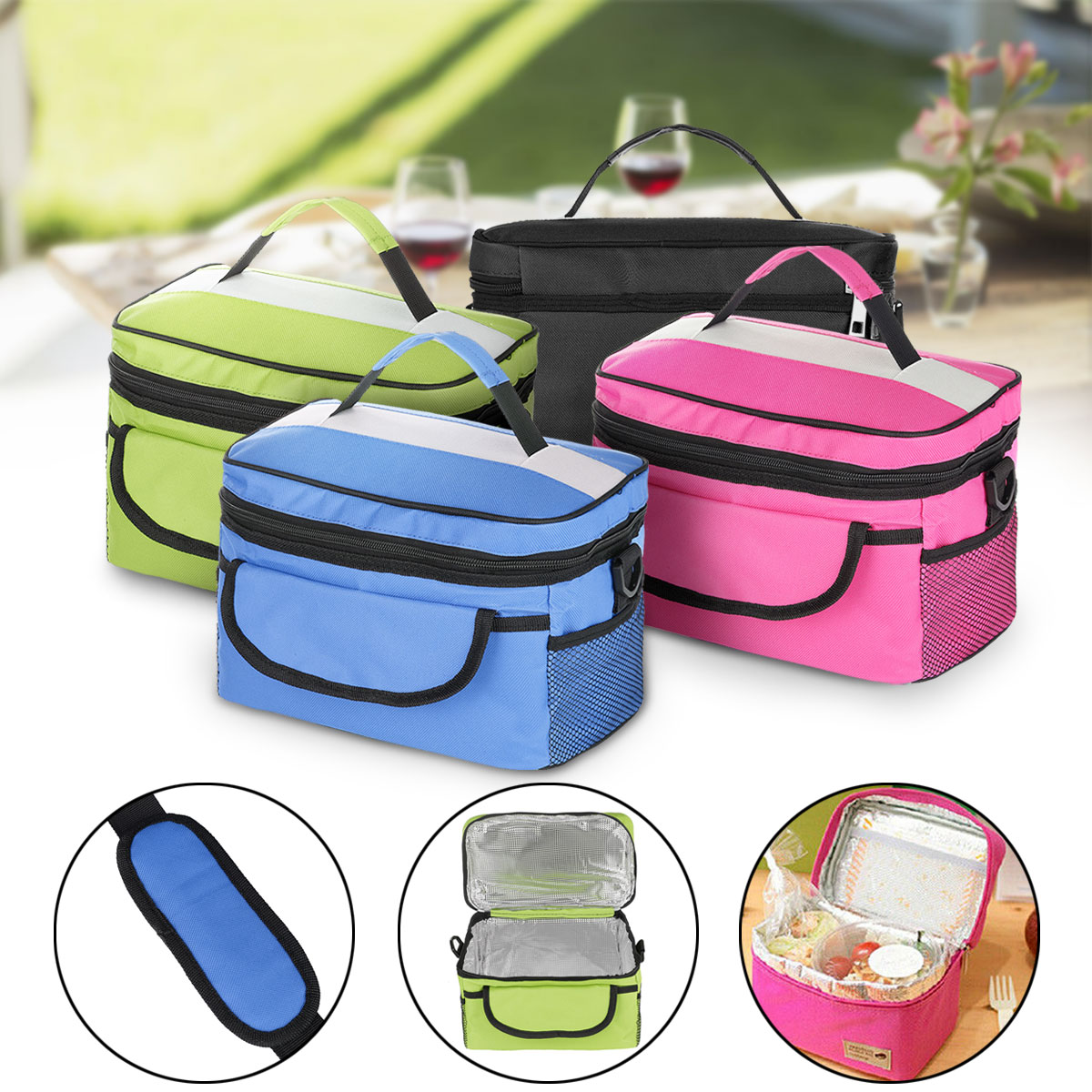 Waterproof Portable Thermal Insulated Lunch Box Food Storage Bag Picnic Carry Tote