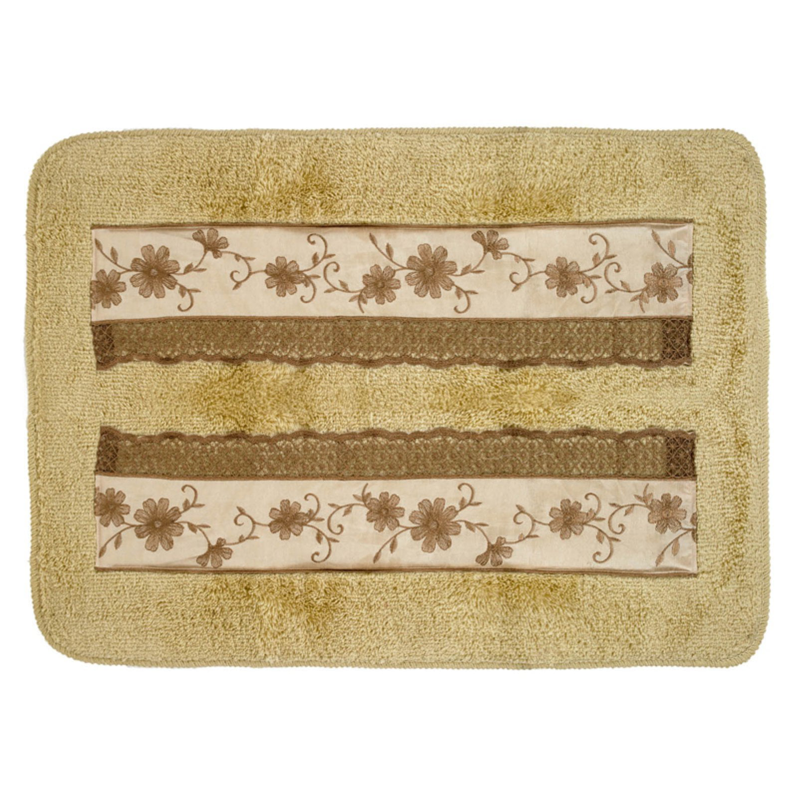 Sweet Home Collection Veronica Banded Bathroom Rug by Popular Bath Products