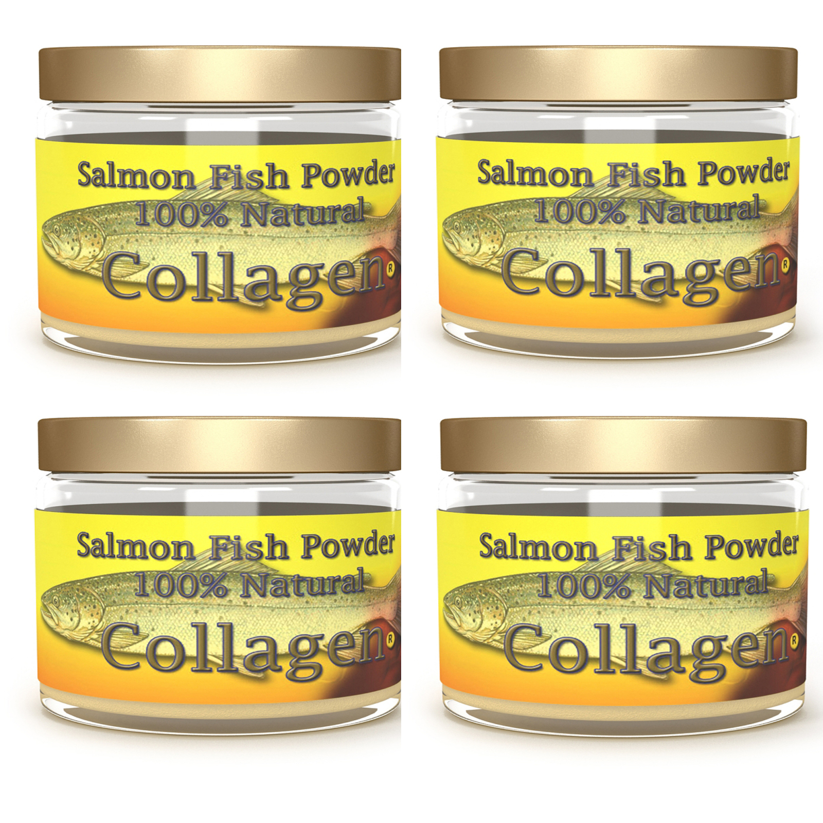 SALCOLL COLLAGEN Marine Collagen - Salmon Collagen for Joint Pain, Rheumatoid Arthritis, Osteoporosis - Aids Tissue, Cartilage & Bone Regeneration to Improve Energy, Mobility & Vitality - 4 x 1.23oz