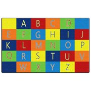 Flagship Carpets FE404-44A Rectangle Alphabet Seating Carpet, 7 ft. 6 in. x 12 ft.