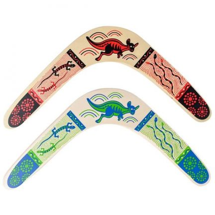 "14."" Wooden Boomerang- Assorted Colors by"
