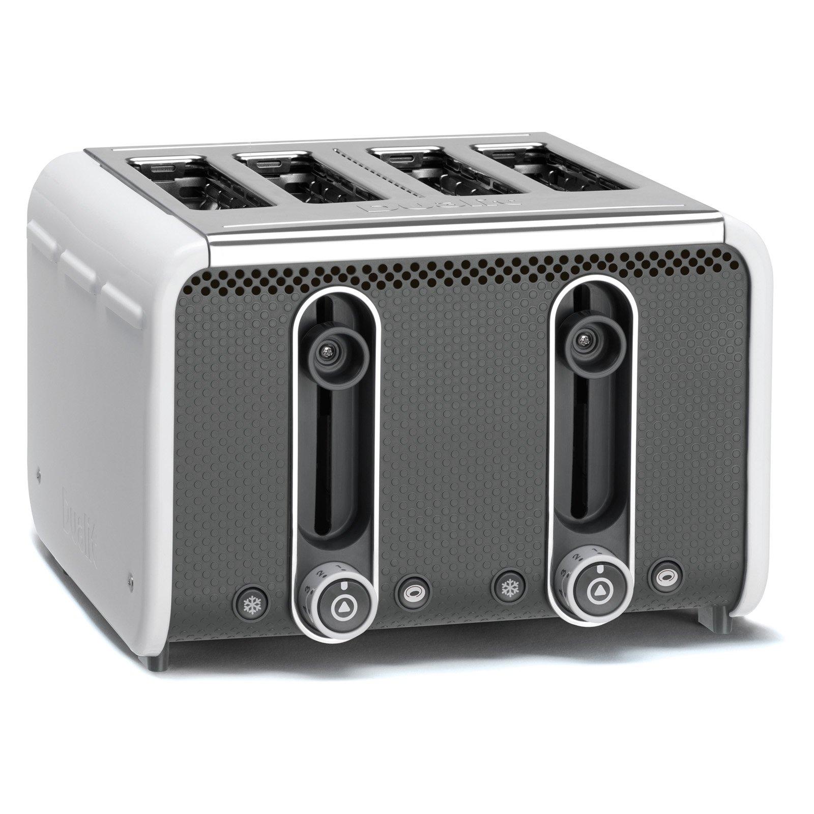 Dualit 46432 4 Slice Toaster - White/gray
