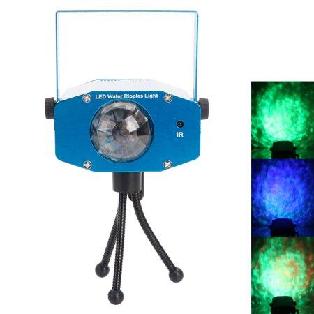 Reactionnx AC 85-265V 9W 3-RGB LED Auto / Voice Control / Flash Ocean Wave Stage Bar Lamp  Water Light Ocean Light Ripple Effect Blue ()