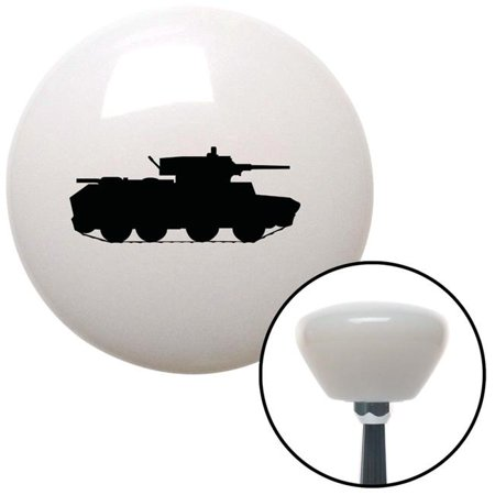 Black Military Tank White Retro Shift Knob with M16 x 1.5 Insert Shifter Auto Brody - image 1 de 1