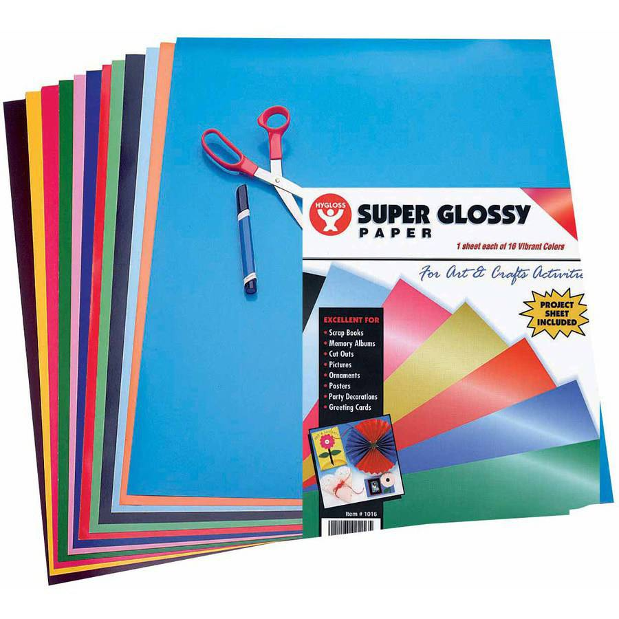Hygloss Super Glossy Paper, 6-1/2 x 8-1/2 Inches, 96 Sheets