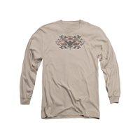 Batman Comic Book Cartoon Superhero Icon Gothic Bat Logo Adult L-Sleeve T-Shirt