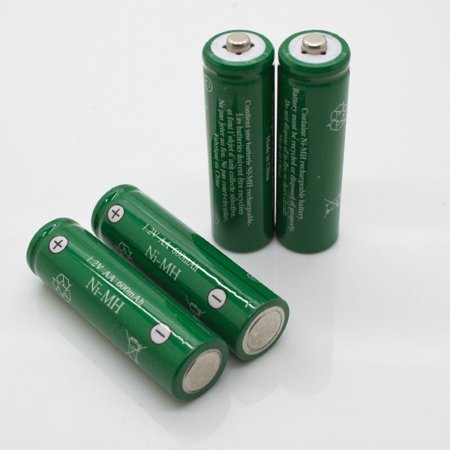 AA Ni-MH 600mAh Rechargable Batteries for Solar Powered Units (12-Pack), 1.2-volt 600mAh Ni-MH rechargeable batteries By