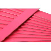 """25 Hot Pink Colored Wooden Straight Edges with Metal Strips Office Supplies - 12"""""""