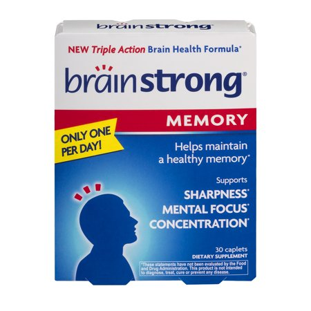 Brain 30 Tabs - Brain Strong Memory Caplets, 30 count